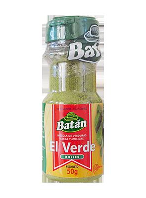 El-Verde-Frasco-verduras-secas-molidas-emaran-batan-condimentos-sazonadores-batan-especies naturales-condimentos agroindustriales